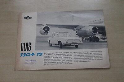 Glas 1304 Ts Prospekt 04/1965 Zeitschriften PräZise 178739 Berichte & Zeitschriften