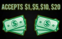 Universal High Quality Weatherproof Decal For Dollar Bill Changers - 11' X 7'