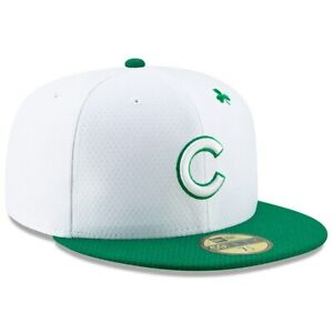51b65d14e63 New Era Chicago Cubs White Kelly Green 2019 St. Patrick s Day On ...