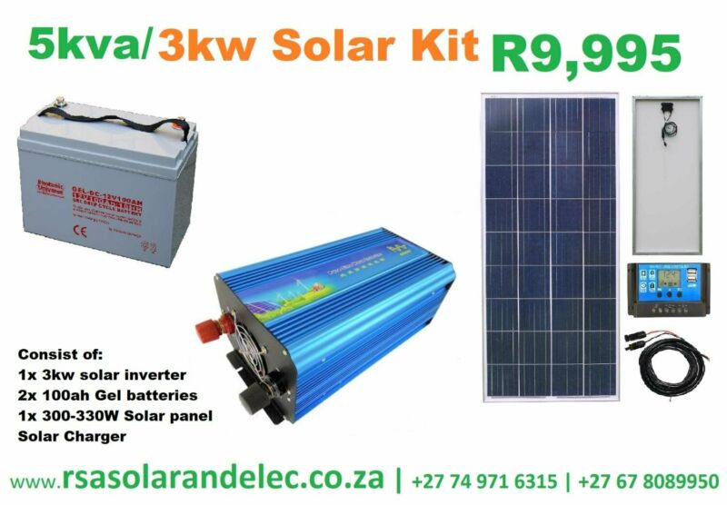 5kva 3000W home solar kit powerful enough to run fridge lights and entetainment