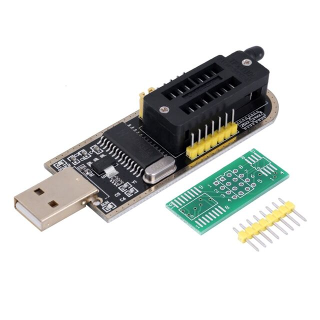 25 SPI Series 24 EEPROM CH341A BIOS Writer Routing LCD Flash USB Programmer AG