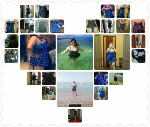 Swimwear Monokini Polka Dot Skirt Swimsuit Women Bodysuit Bathing Plus Size