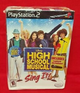High School Musical: Sing It Bundle PS2 SONY Playstation 2 Game + Mic NEW SEALED