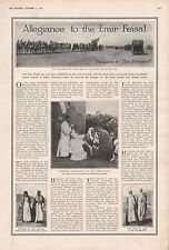 1921 -ALLEGIANCE TO THE EMIR FEISAL- FROM ANIZAH AND DULAIN TRIBES