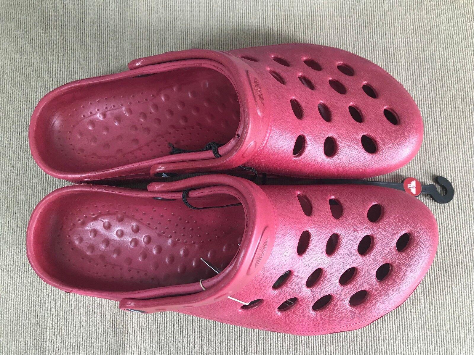 BNWT Mens Sz EURO 43 US 10 Rivers Sandals Doghouse Brand Burgundy Clog Sandals Rivers Shoes 699462