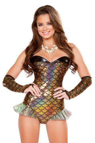 Sirène mermaid costume overall Gold mardi gras carnaval fasnacht