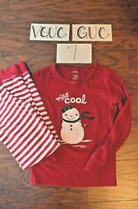 bdda7f166 Gymboree Gymmies Christmas 2 pc Jammies Pajamas Snowman Stripes Girl ...