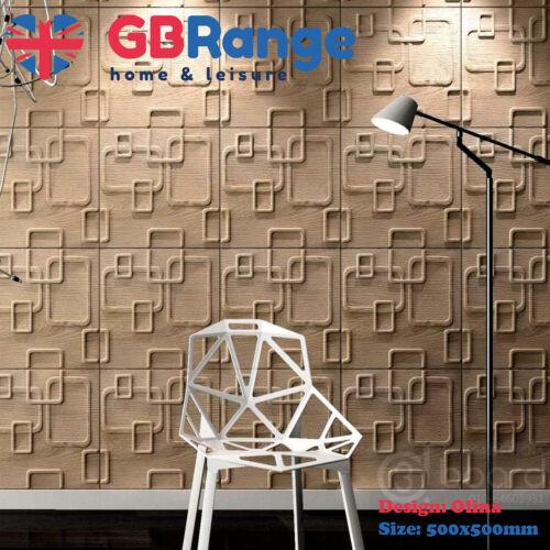 3D Wall Panel Natural Bamboo Fibre Olina Design 500x500mm Panels Featured Wall