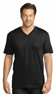 District-Made-Men-039-s-Cotton-V-Neck-Short-Sleeve-Casual-Basic-Tee-DT1170