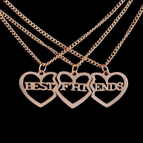 1set Bd Best Friends Pendant Heart