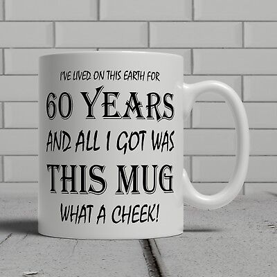 60 60th Birthday small gift idea mug present perfect dad father uncle daddy