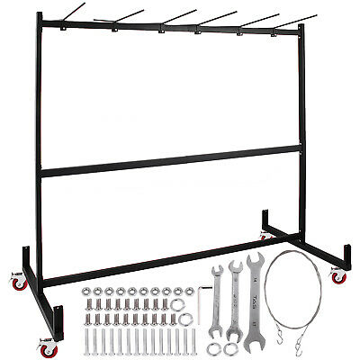 Folding Chair Rack Dolly Cart W Locking Casters Max 30 Chairs 12 Tables Hanging Ebay