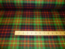 Carnegie Tartan Fabric Plaid 100% Pure New Wool By The Metre