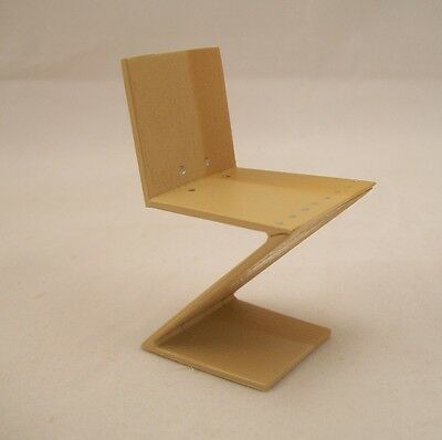Chair - Zig Zag by Rietveld 1932 famous classic wood miniature REC018 1/12 scale