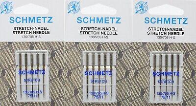 9 SCHMETZ Nähmaschinen Nadeln Combi wing Nadel 130//705 H Stärke 70 bis 100