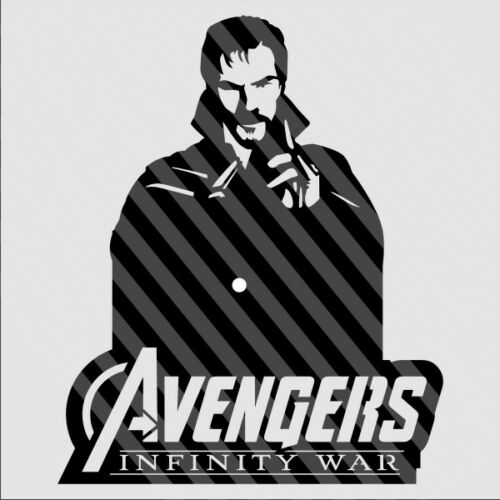 DXF CDR and EPS File For CNC Plasma or Laser Cut Infinity War Clock lot