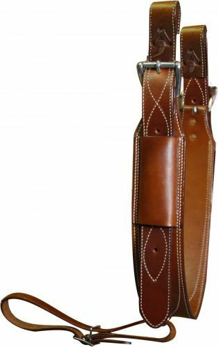Showman 3  Wide Medium Oil LEATHER Horse Flank   BACK CINCH with Roller Buckles