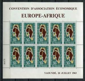 29715) DEALER STOCK TCHAD 1963  MNH** Europa Afrique MS (x5 MS)