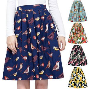 50s retro pinup swing vintage circle skirt high