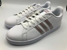 Size 10 - adidas Cloudfoam Advantage White Grey Metallic