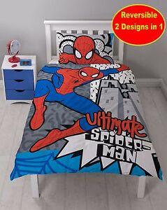 Mezcla-Algodon-Nuevo-Spiderman-Individual-Juego-Colcha-Edredon-Nino-Infantil