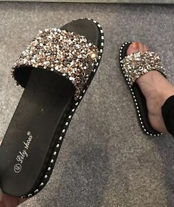 Ladies Slippers Size 6.bnib. Clothing, Shoes & Accessories Slippers