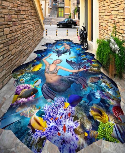 3D Pretty Girl 5475 Floor WallPaper Murals Wallpaper Mural Print AJ AU Lemon