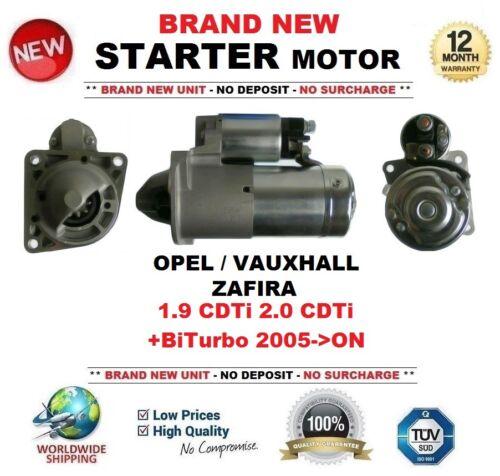 Para Opel Vauxhall Zafira 1.9 CDTI 2.0 CDTi Biturbo 2005-ON Motor Arranque 10 T