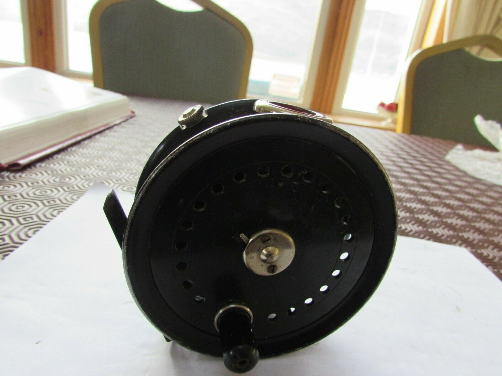 A1 excellent XX rare vintage named JW youngs 14A rot agate trout fishing reel 4