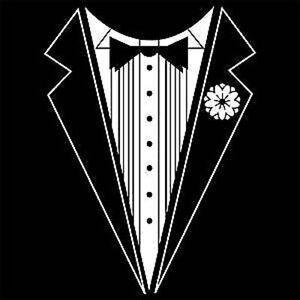 Black-White-Childrens-Tuxedo-T-Shirt-Kids-Unisex-2-4-6-8-10-12-14