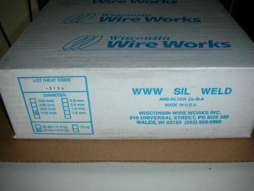 "0.062/"" 30# Sil-Weld Wisconsin Wire Works USA! Silicon Bronze Welding Wire 1//16/"""
