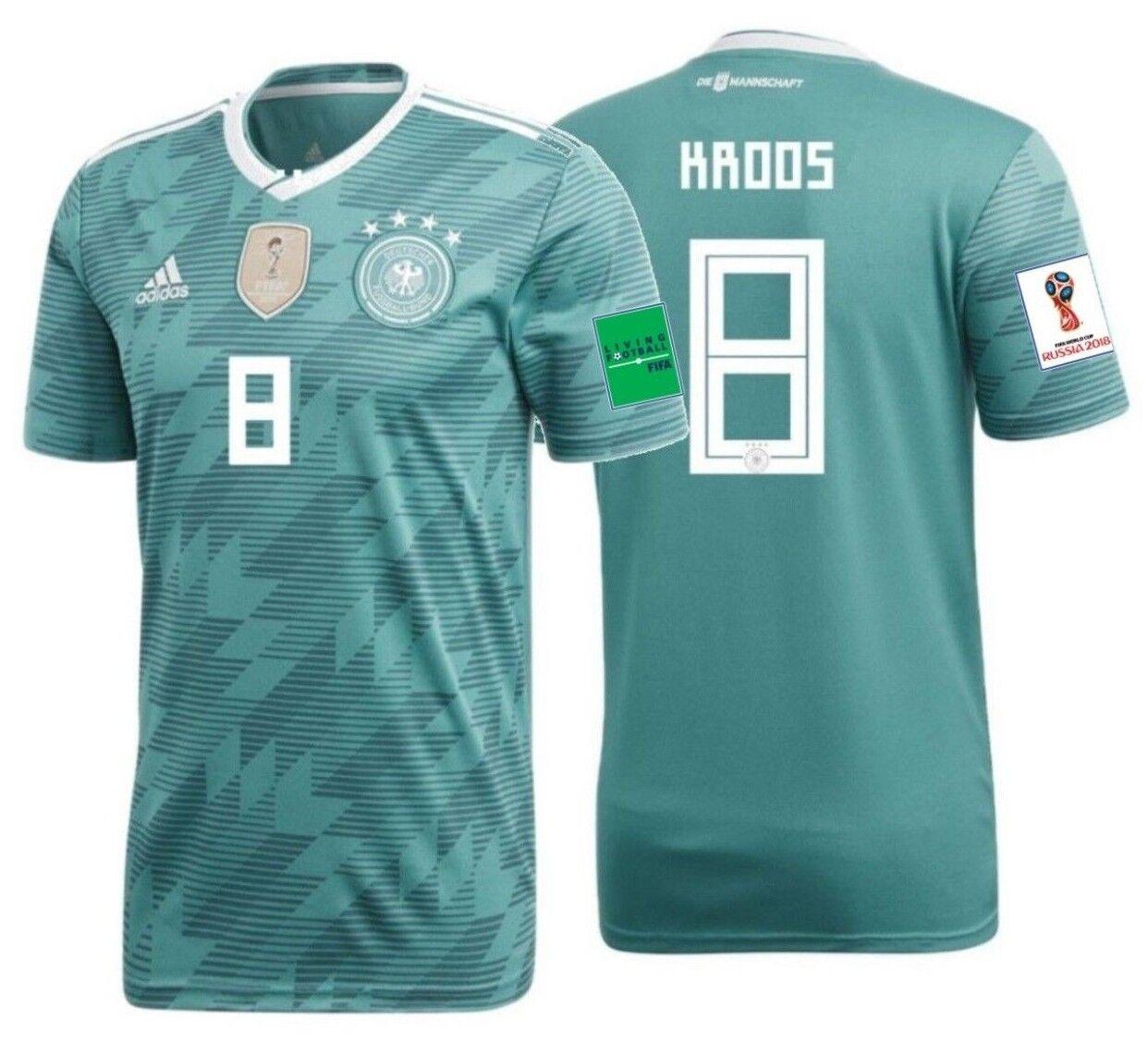 Adidas Tony Kroos Alemania Away Jersey Copa Del Mundo 2018 Parches