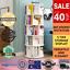 thumbnail 1 - 1.6m Wooden 5 Tier Rotating Revolving BookShelf Bookcase White Decor Organiser