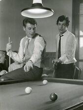 JOHNNY HALLYDAY 60s VINTAGE PHOTO ORIGINAL BILLARD