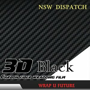 Carbon-Fiber-Fibre-3D-Black-Film-Car-Vinyl-Wrap-External-Decal-1-5Mx30CM-60-034-x12-034