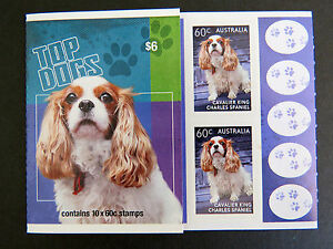 Australian-Stamps-2013-Top-Dogs-Booklet-Cavalier-King-Charles-Spaniel-MNH