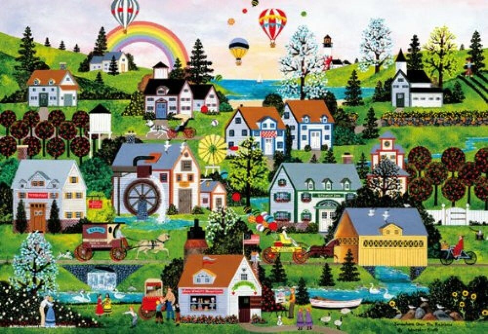 City Micro pièce consommant 1000 Piece Jigsaw Puzzle Rainbow 26x38cm