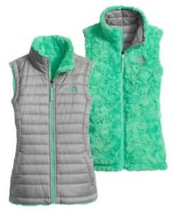 b9f5d20b275 Details about NEW NWT Girls THE NORTH FACE M 10-12 L 14-16 gray mossbud  swirl reversible vest