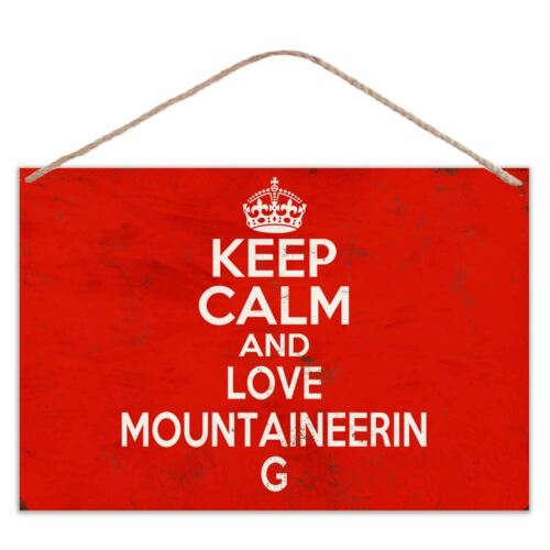 Keep Calm and Love Mountaineering-Look Vintage Metal Large Plaques Sign 30x20cm