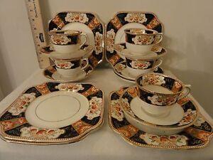 Details about Vintage Colclough 4845 pattern English bone china  cups,saucers, cake plates