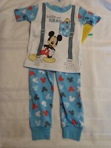 Disney Baby 12 18 24 Month Choice Mickey Mouse Cotton Pajama Sleepwear Set NWT