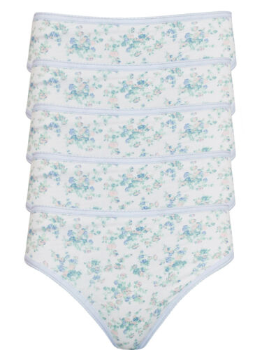 5 Pack M/&S High Leg Knickers Underwear Pants 6 8 10 12 14 16 18 20 26