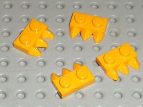 Set 40350 71040 41175.. 4 x LEGO BtLtOrange Plate 3 Tooth griffe ref 15208 NEW