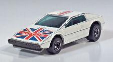 "Hot Wheels Royal Flash Lotus Esprit 2.75"" Scale Model British Flag White"