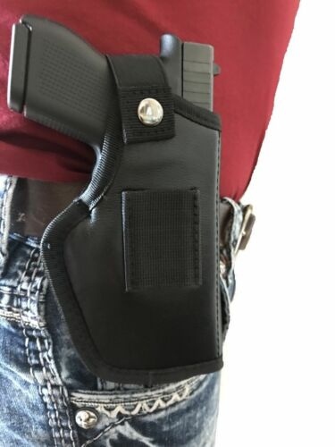 THE ULTIMATE OWB LEATHER GUN HOLSTER FOR HI-POINT C9,CF380,9mm