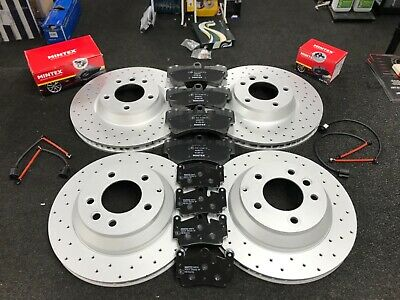 PORSCHE CAYENNE Q7 TOUAREG BRAKE DISC PERFORMANCE CROSS DRILLED BRAKE PADS REAR