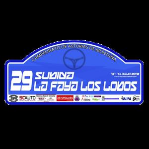 PEGATINA PLACA RALLYE DE ASTURIAS 2018 PR143 ADHESIVO VINILO MOTOR RALLY COCHE