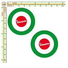 sticker vespa adesivi bandiera italia auto moto casco 2 pz. decal helmet
