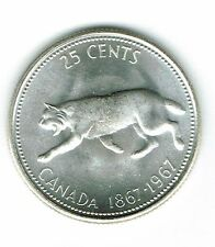 1967 25C 0.800 Ag (Prooflike) Canada 25 Cents