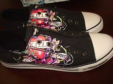 Ed Hardy Authentic Lowrise Fashion Sneaker DS  Shoes For Men Black size 13